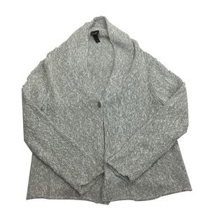 Eileen Fisher Gray One button Cardigan Size L